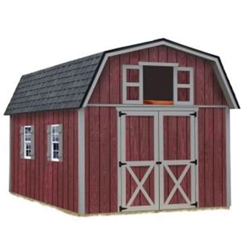 best barns woodville 10 ft x 12 ft wood storage shed kit woodville 1012 the home depot