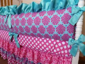 pink and turquoise crib bedding custom crib bedding set bright pink and turquoise by pljdesign