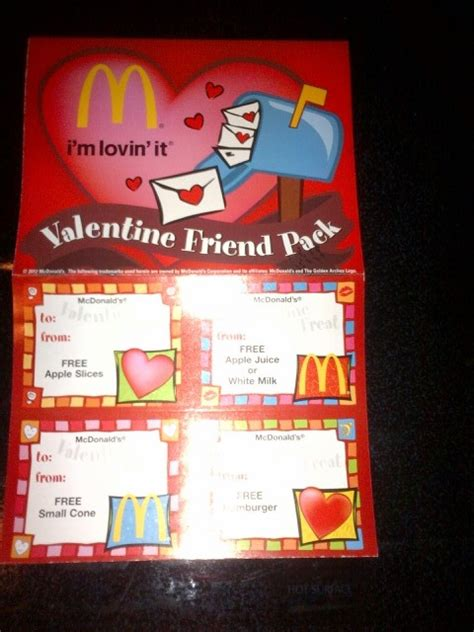 printable mcdonalds gift certificates mcdonald s free valentine s day coupons available