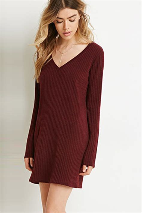 Lace Up Vneck Ruffle Knitted Sweater Series Sweater Knitsweater v neck ribbed knitted sweater dress 022721