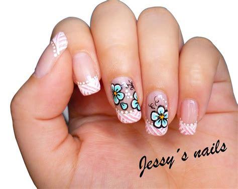 imagenes de uñas pintadas con figuras u 241 as con flores nail art pinterest manicure and