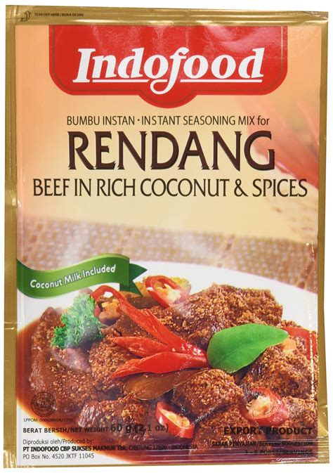 amazoncom bamboe rendang indonesian dry curry paste