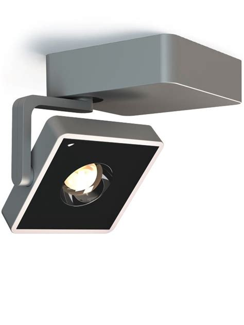 Led Len Decke by Strahler Studio Spot Up Square 13x13 Satin Black 3500k