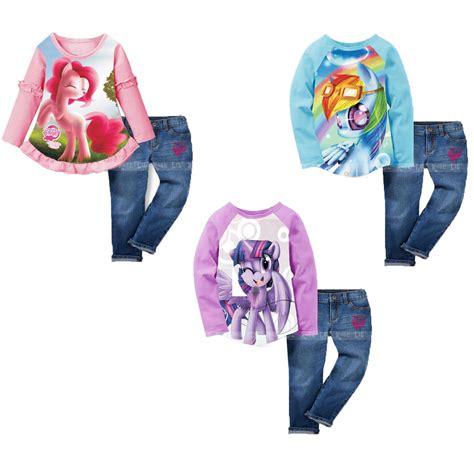 Stelan Pony lil setelan baju panjang karakter pony dan celana