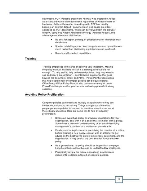 board policy manual template office policy manual e book