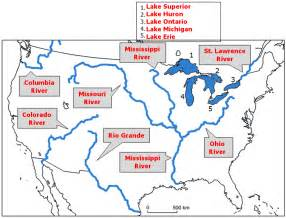 map of bodies of water in america images