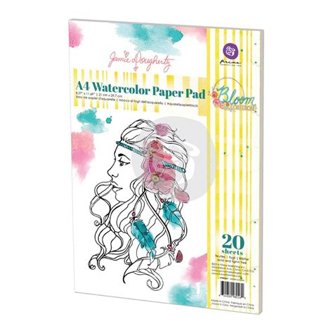 Copic Pm Pad White A4 By Dreamshop scrapbookdepot prima marketing bloom a4 watercolor paper
