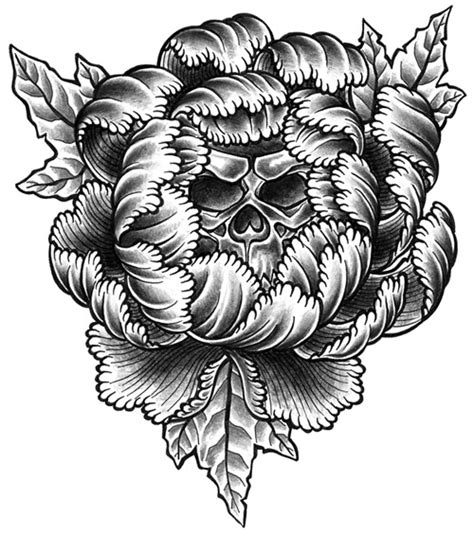 skull and flower tattoo designs drawings flowers ideatattoo