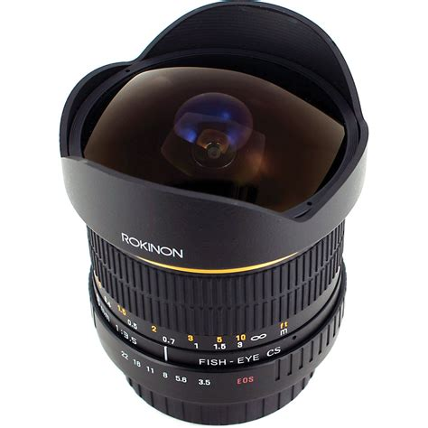 fisheye lens rokinon 8mm ultra wide angle f 3 5 fisheye lens for canon