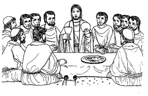 the last supper coloring page intended to motivate in