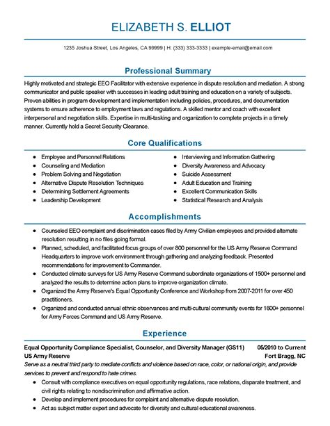 Equal Opportunity Specialist Cover Letter by Fresh Information Specialist Sle Resume Resume Daily