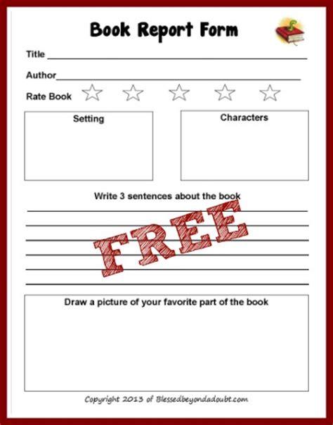 kindergarten book report forms kindergarten book report worksheet 7 best images of free