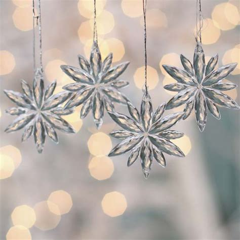 miniature acrylic snowflake ornaments christmas