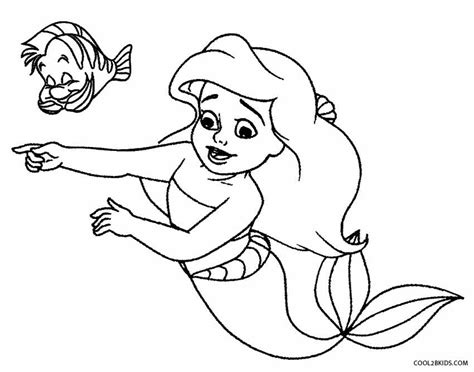 coloring page baby mermaid printable mermaid coloring pages for kids cool2bkids