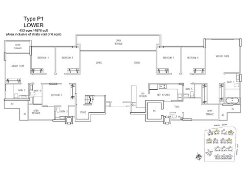 treasure trove floor plan penthouse 7 bed a treasure trove