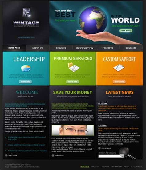 free flash site templates css 90 magazine 20 flash website templates