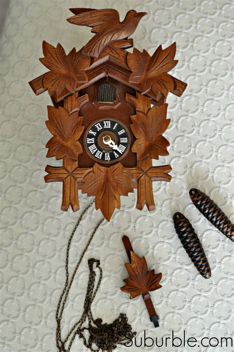 Sprei Cuckoo Clock that time i spray painted a cuckoo clock suburble
