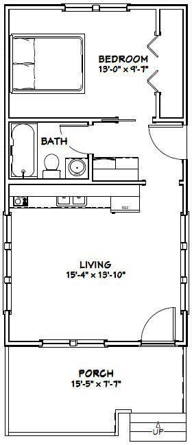 16x30 tiny house 16x30h11 901 sq ft excellent floor plans 16x30 tiny house 16x30h1d 480 sq ft excellent