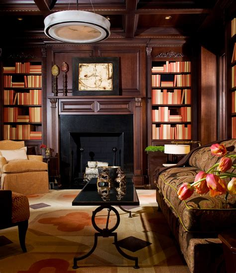 traditional home library design decoration