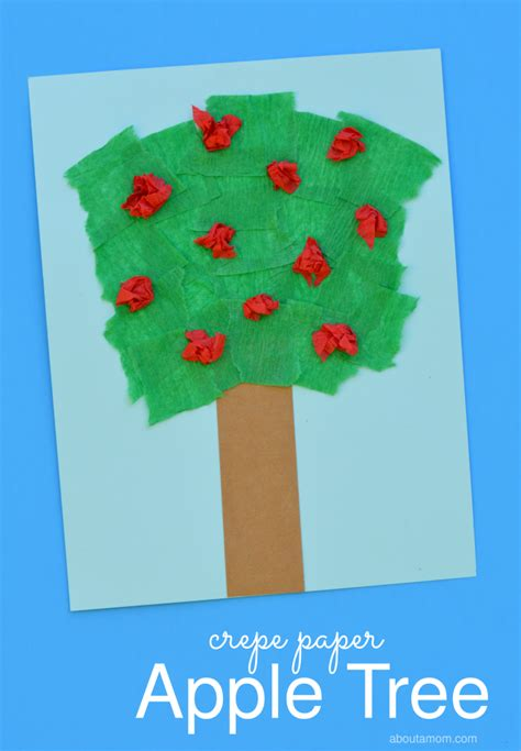 How Do They Make Paper From Trees - crepe paper apple tree craft about a