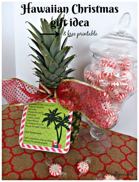 hawaiian christmas gift idea free printable craft