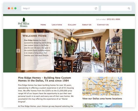 home building websites home builder website design in frisco tx pine ridge