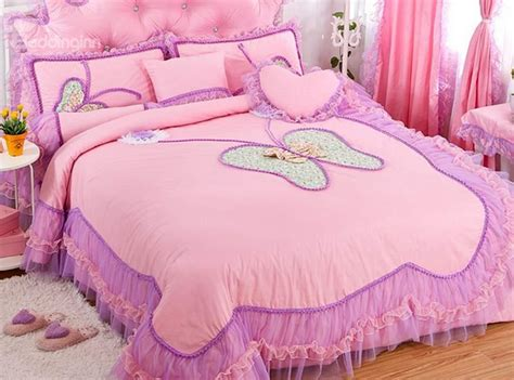 pink pattern duvet amazing lace butterfly pattern design pink 4 piece
