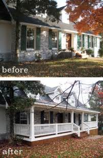 Home Design Before And After Before And After 7 Sensational Front Porch Additions
