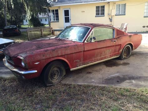 1965 mustang project car for sale 1966 ford mustang fastback c code 289 v8 complete project