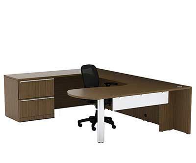 U Shaped Office Desk With Lateral Pedestal Ch V 725 Desks V Shaped Desk