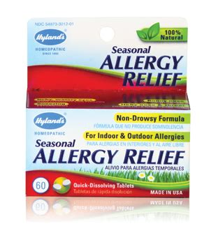allergy remedies hyland s seasonal allergy relief hyland s homeopathic