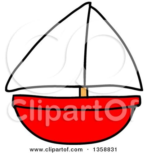 toy boats cartoon royalty free rf clipart of sail boats illustrations