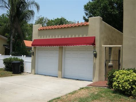 awning in spanish canvas awning recovers in sunbrella ta bay fl