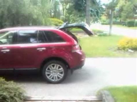 2009 lincoln mkx problems lincoln mkx power lift gate problem