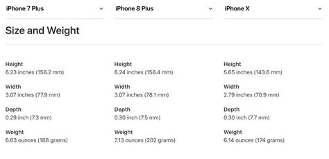 weight size  battery life iphone   iphone