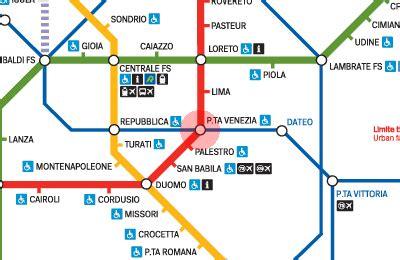 porta venezia metro porta venezia station map milan metro