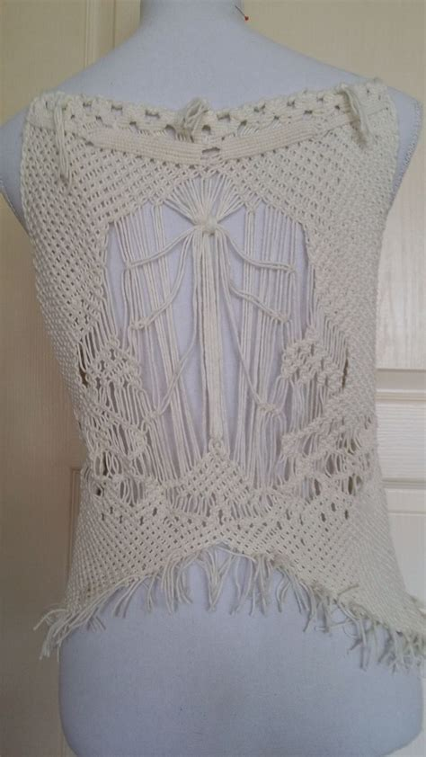 Macrame Vest Pattern - 1045 best images about macrame wall hanging on