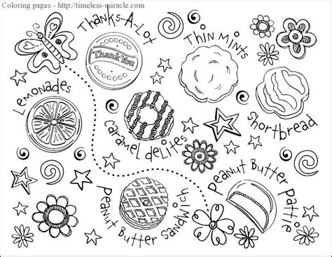 coloring page girl scout cookies girl scout cookie coloring sheets timeless miracle com