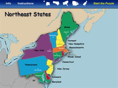 map usa east coast states and capitals northeast united states map with capitals