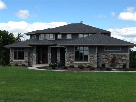 praire style homes delagrange fort wayne indiana custom home builder prairie style home in new
