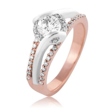 sirena engagement ring in pink and white