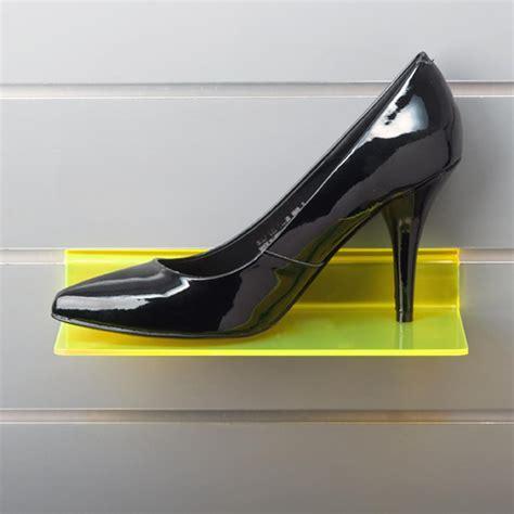 Perspex Shelf by Slatwall Shoe Displays Acrylic Perspex Display