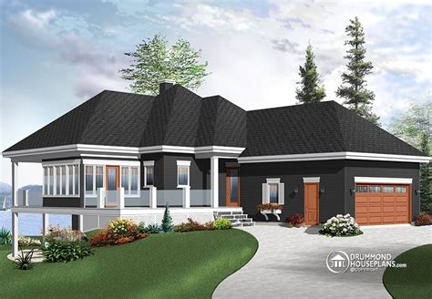 Drummond House Plan Traditional Ranch Home With Open Floor Plan Concept Affordable House