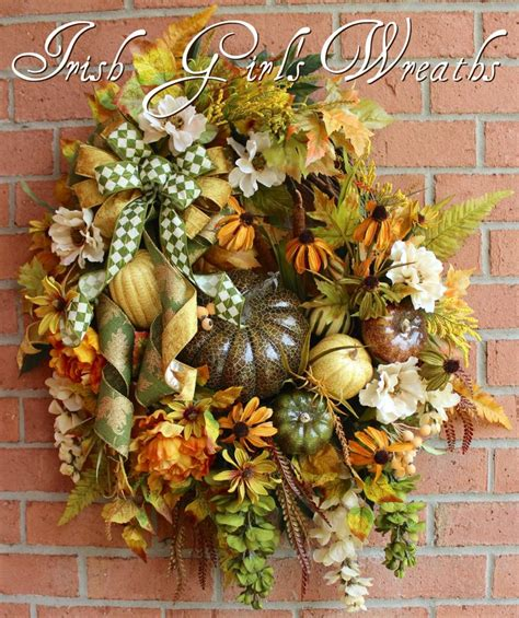 cross wreath country home decor black and gold wooden 126 best fall autumn wreaths by irish girl s wreaths