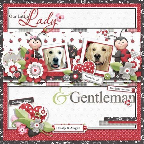 ladybug scrapbook layout cute ladybug layout for valentine s day fqb ladies