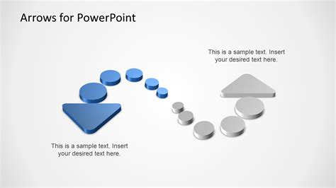 3d Arrows With Dots For Powerpoint Slidemodel Arrows Powerpoint Templates