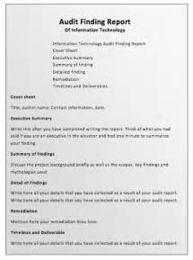Sample Audit Report Template Standard Audit Report Format Pictures To Pin On Pinterest