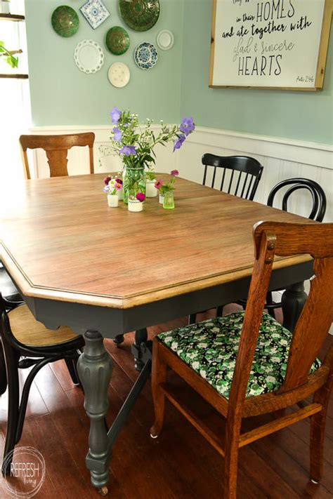 Stripping Dining Room Table Refinishing A Dining Room Table Peenmedia
