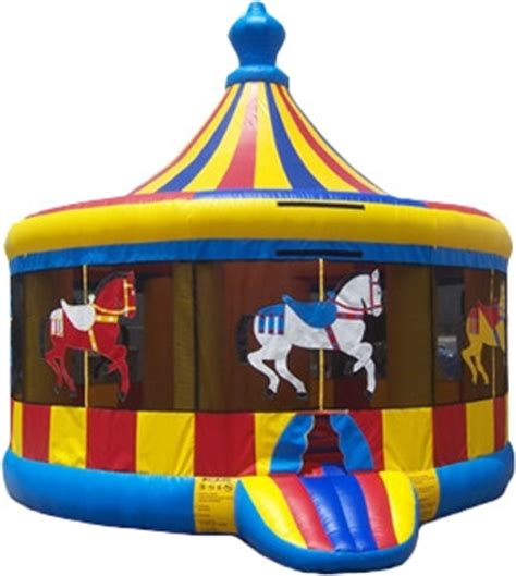 rental bounce house carousel bounce house rental 16 ft clowns unlimited