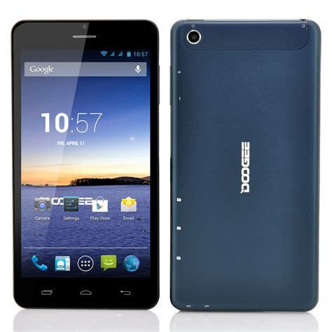 android phablet doogee dg685 6 85 inch 3g android phablet qhd ips screen dual 1 3ghz cpu blue tzp m558
